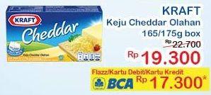 Promo Harga KRAFT Cheddar 165/175gr  - Indomaret