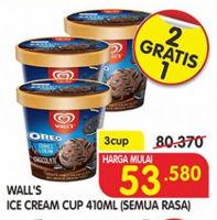 Promo Harga WALLS Selection All Variants per 3 pcs 410 ml - Superindo