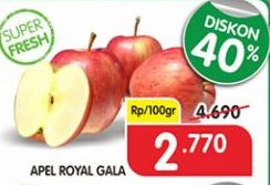 Promo Harga Apel Royal Gala per 100 gr - Superindo