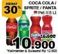Promo Harga Coca Cola/Fanta/Sprite 1500 ml - Giant