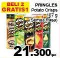 Promo Harga PRINGLES Potato Crisps All Variants 107 gr - Giant