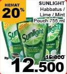 Promo Harga SUNLIGHT Pencuci Piring Higienis Plus Jeruk Nipis Habbatussauda, Anti Bau Jeruk Nipis Daun Mint 755 ml - Giant