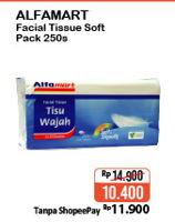 Promo Harga ALFAMART Facial Tissue Soft Pack 250 pcs - Alfamart