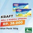 Promo Harga KRAFT Cheese Cheddar per 2 pcs 165 gr - Yogya