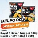 Promo Harga BELFOODS ROYAL Royal Chicken Nugget/ Crispy Karage 500g  - Yogya