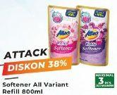 Promo Harga ATTACK Fresh Up Softener All Variants 800 ml - Yogya