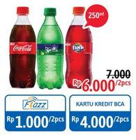 Promo Harga Coca Cola/Fanta/Sprite per 2 pet 250 ml - Alfamidi