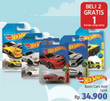 Promo Harga HOT WHEELS Basic Car  - LotteMart