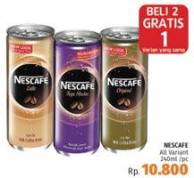 Promo Harga NESCAFE Ice Coffee All Variants 240 ml - LotteMart