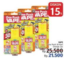 Promo Harga FUMAKILLA VAPE One Push 30 Hari, Orange  - LotteMart