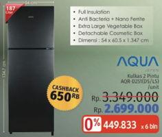 Promo Harga AQUA AQR-D251 DS, LS  - LotteMart
