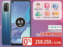 Promo Harga OPPO A53 128GB  - LotteMart