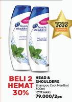 Promo Harga HEAD & SHOULDERS Shampoo Menthol Dingin per 2 botol 300 ml - Guardian