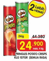 Promo Harga PRINGLES Potato Crisps All Variants per 2 kaleng 107 gr - Superindo