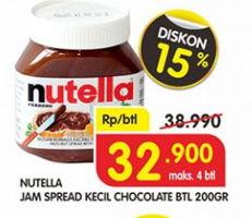Promo Harga NUTELLA Jam Spread Chocolate 200 gr - Superindo
