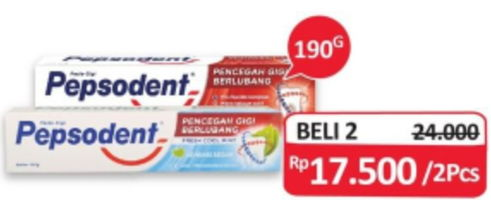 Promo Harga PEPSODENT Toothpaste White per 2 pcs 190 gr - Alfamidi