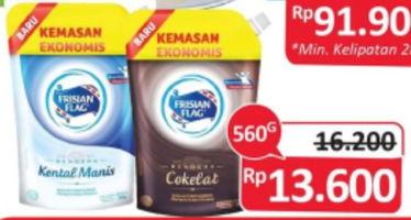 Promo Harga FRISIAN FLAG Susu Kental Manis Cokelat, Putih 560 gr - Alfamidi