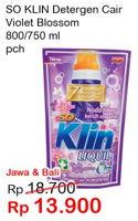 Promo Harga SO KLIN Liquid Detergent Violet Blossom 800 ml - Indomaret