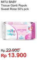 Promo Harga MITU Baby Wipes Sweet Rose 50 pcs - Indomaret