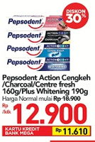 Promo Harga PEPSODENT Pepsodent Action Cengkeh/Charcoal/Centre Fresh/Plus Whitening  - Carrefour