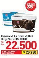 Promo Harga DIAMOND Ice Cream 700 ml - Carrefour