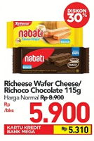 Promo Harga NABATI Richeese/Richoco Wafer 115 gr - Carrefour