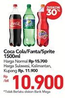 Promo Harga Coca Cola/Fanta/Sprite 1500 ml - Carrefour