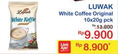 Promo Harga LUWAK White Koffie Original per 10 sachet 20 gr - Indomaret
