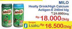 Promo Harga MILO Susu UHT Calcium, Original per 2 kaleng 240 ml - Indomaret