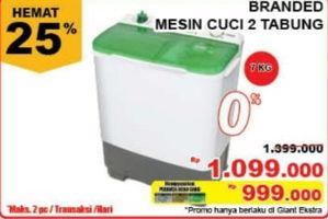 Promo Harga BRANDED Mesin Cuci 2 Tabung  - Giant
