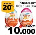 Promo Harga KINDER JOY Chocolate Crispy Boys, Girls 20 gr - Giant