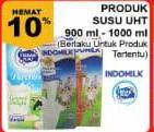 Promo Harga INDOMILK Susu UHT 900-1000ml  - Giant