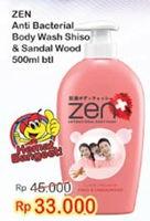 Promo Harga ZEN Anti Bacterial Body Wash Shiso Sandalwood 500 ml - Indomaret