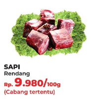 Promo Harga Daging Rendang Sapi per 100 gr - Yogya