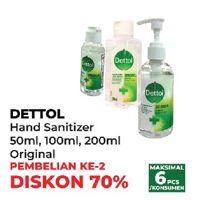 Promo Harga DETTOL Hand Sanitizer 50ml, 100ml, 200ml  - Yogya