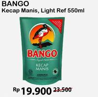 Promo Harga BANGO Kecap Manis/Light 550ml  - Alfamart