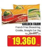 Promo Harga GOLDEN FARM French Fries Shoestring, Crinkle, Straight 1 kg - Hari Hari