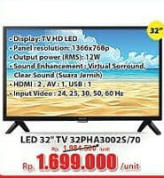 Promo Harga PHILIPS 32PHA3002S | Slim LED TV  - Hari Hari