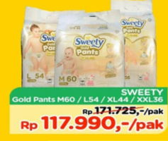 Promo Harga SWEETY Gold Pants M60, XL44, L54, XXL36  - TIP TOP