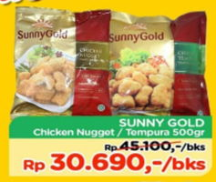 Promo Harga SUNNY GOLD Chicken Nugget/ Tempura 500 gr - TIP TOP
