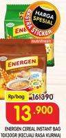 Promo Harga ENERGEN Cereal Instant Kecuali Kurma per 10 sachet 30 gr - Superindo