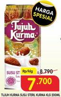 Promo Harga TUJUH KURMA Susu Steril Kurma 200 ml - Superindo