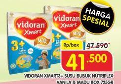 Promo Harga VIDORAN Xmart 3+ Madu, Vanilla 725 gr - Superindo