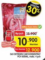 Promo Harga 365 Detergent Cair 800 ml - Superindo