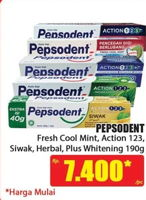 Promo Harga PEPSODENT PEPSODENT Toothpaste 190gr  - Hari Hari