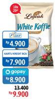 Promo Harga LUWAK White Koffie per 10 sachet 20 gr - Alfamidi