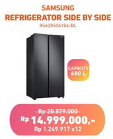 Promo Harga SAMSUNG RS61R5001M9   Refrigerator Side By Side  - Electronic City
