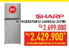 Promo Harga SHARP SHARP SJ-236 ND/SJ-237 ND  - Hypermart
