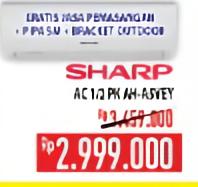 Promo Harga SHARP AH-A5VEY | AC 1/2PK  - Hypermart