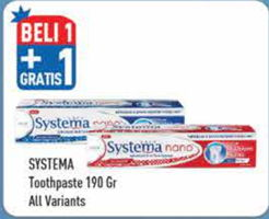 Promo Harga SYSTEMA Toothpaste All Variants 190 gr - Hypermart